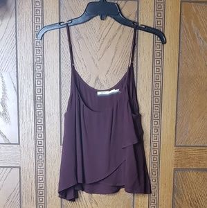 Urban Outfitters Kimchi Blue Burgundy Crop Top